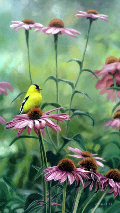 Terry Isaac Posy Petal Goldfinch