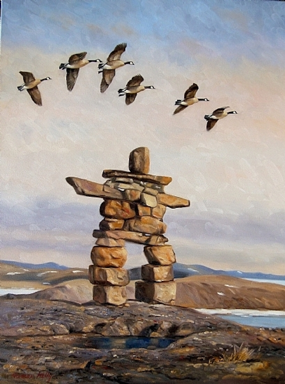 Norman Kelly Voices of Canada Inukshuk and Canada Geese