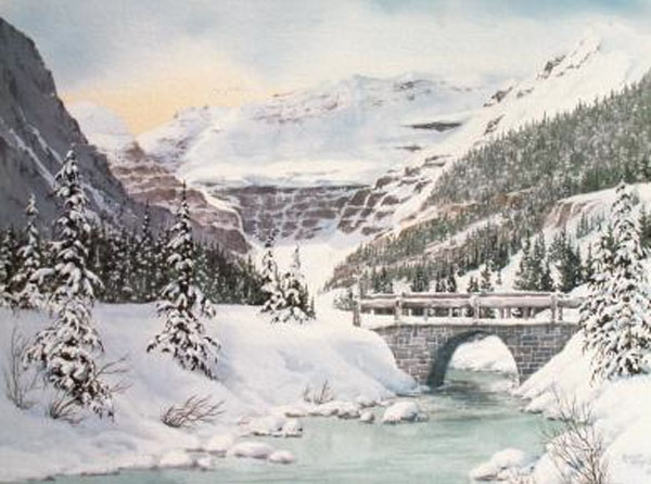 Marilyn Kinsella The Old Bridge Lake Louise