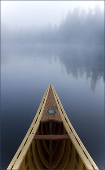 Langford Canoe Towards Algonquin Park