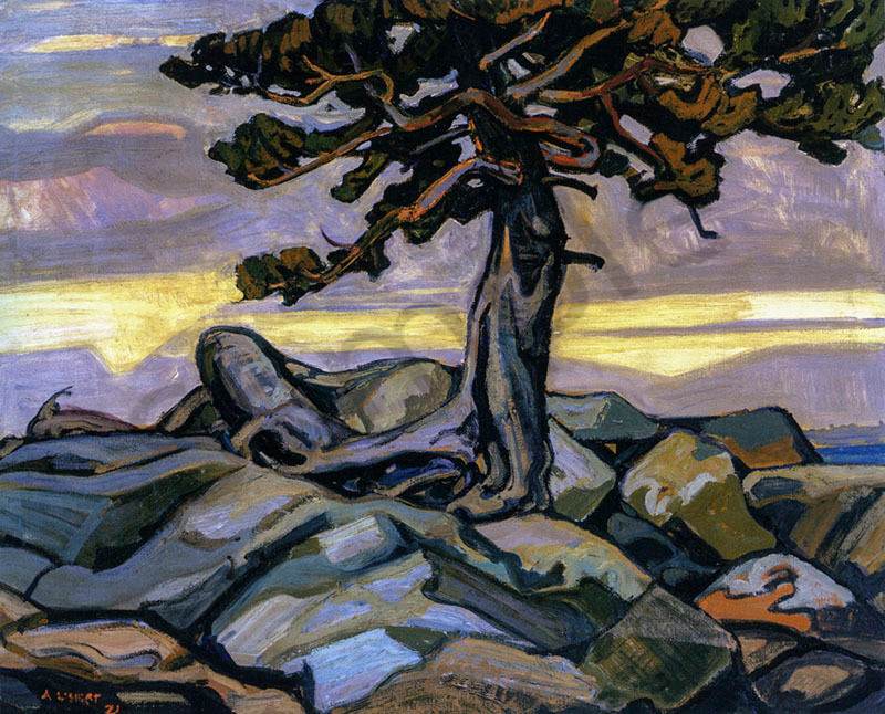 Arthur Lismer Pine Tree and Rocks