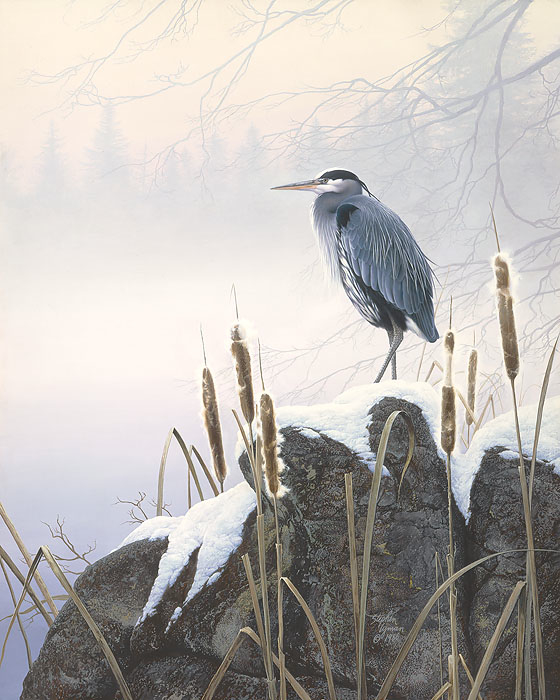 Stephen Lyman Morning Solitude Blue Heron