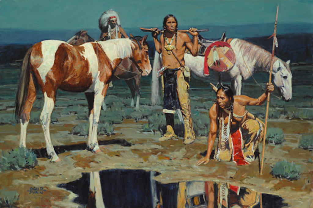David Mann Shod Horses and Boot Prints