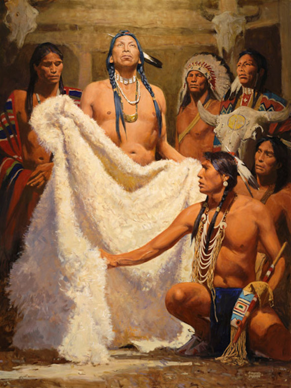 David Mann White Buffalo Robe