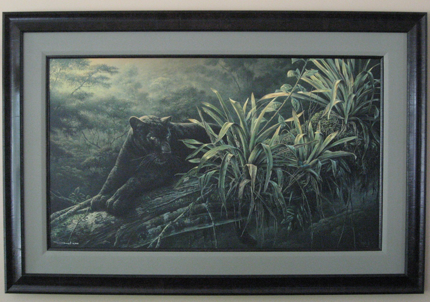Denis Mayer Pride of the Amazon Black Panther Custom Framing