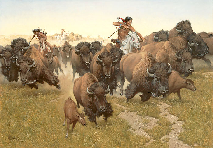 Frank McCarthy Amidst the Thundering Herd