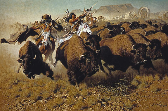 Frank McCarthy Attack on the Wagon Train