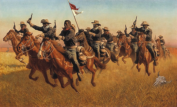 Frank McCarthy Buffalo Soldiers Advance as skirmishers Charge