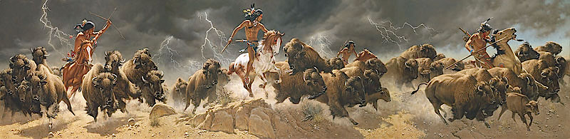 Frank McCarthy Flashes of Lightning, Thunder of Hooves