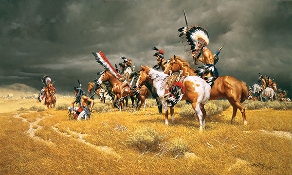 Frank McCarthy Watching The Wagons