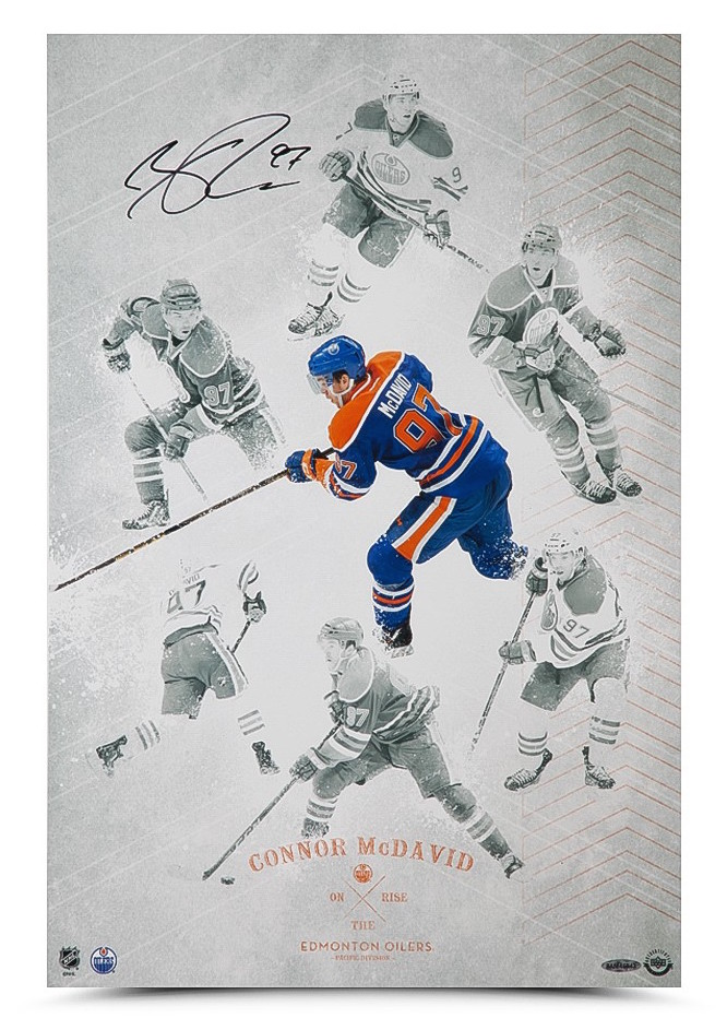 Connor Mcdavid On The Rise print