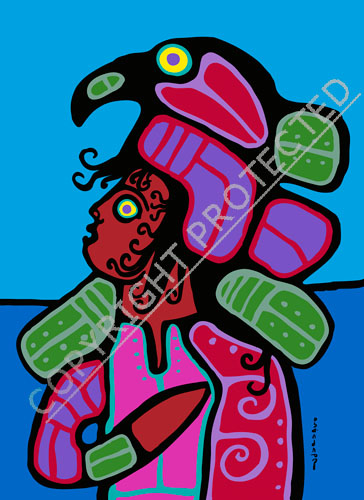 Norval Morrisseau Kyle With Headdress