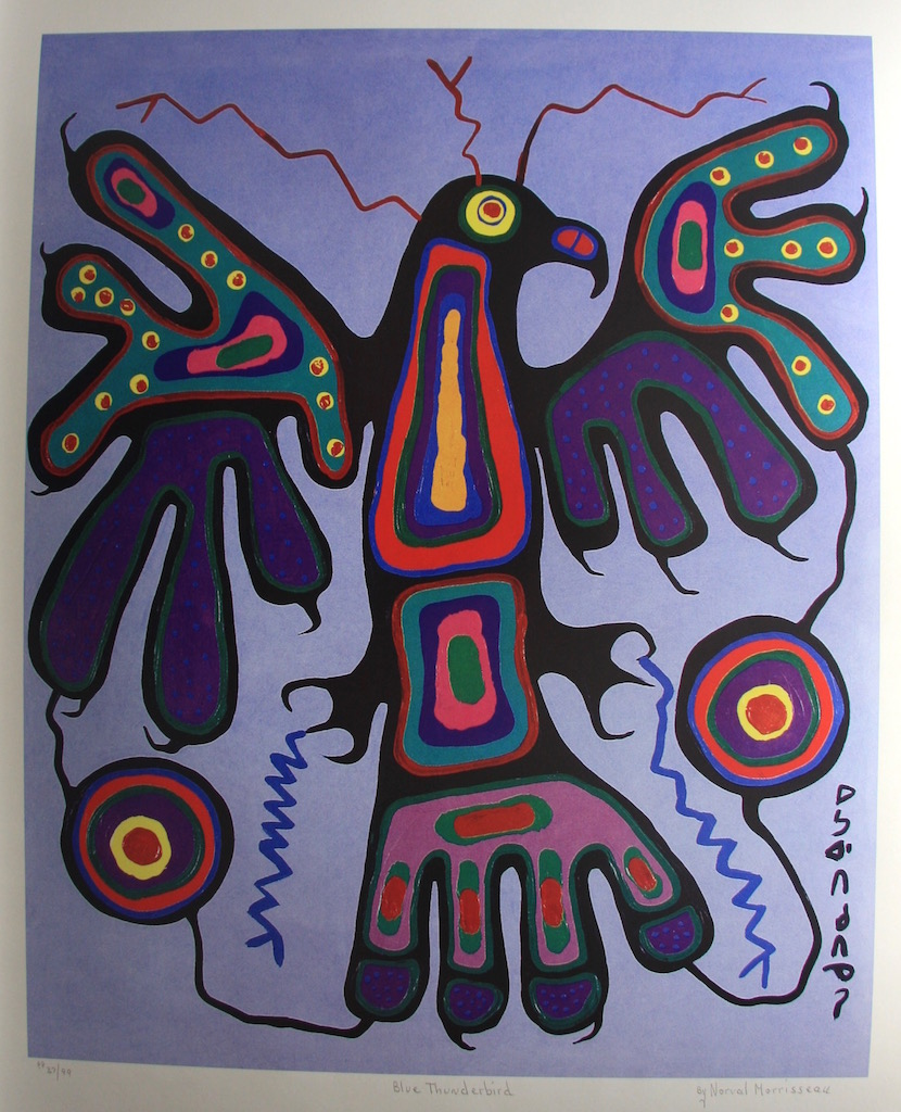 Norval Morrisseau Blue Thunderbird