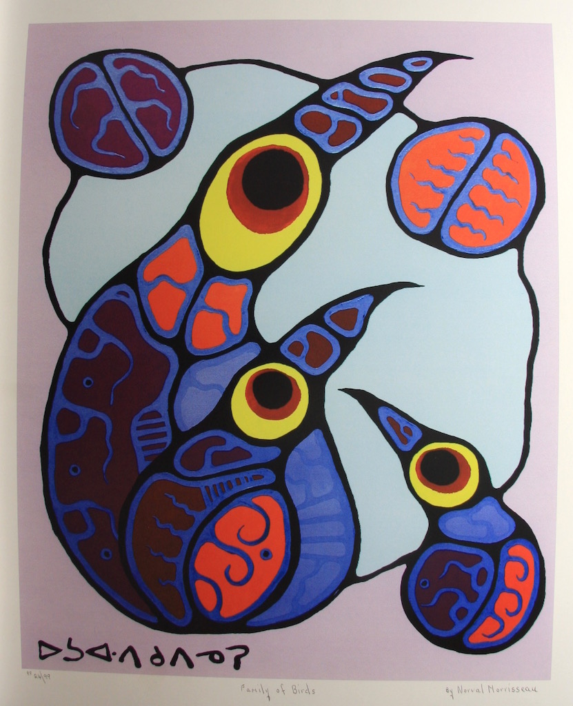 Norval Morrisseau Family Of Birds