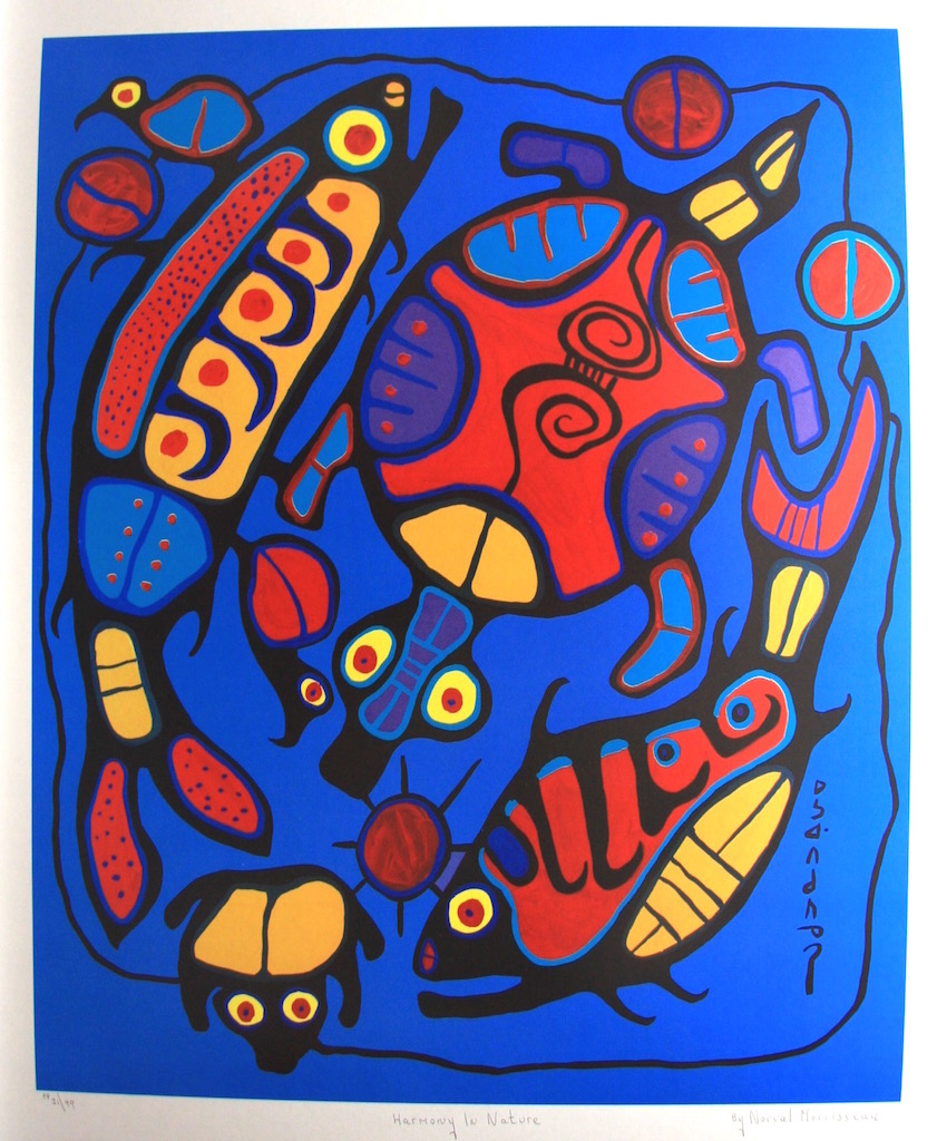 Norval Morrisseau Harmony In Nature