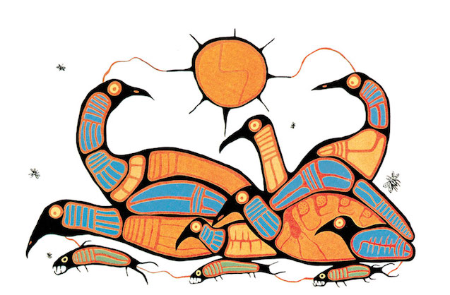 Norval Morrisseau Loon Family