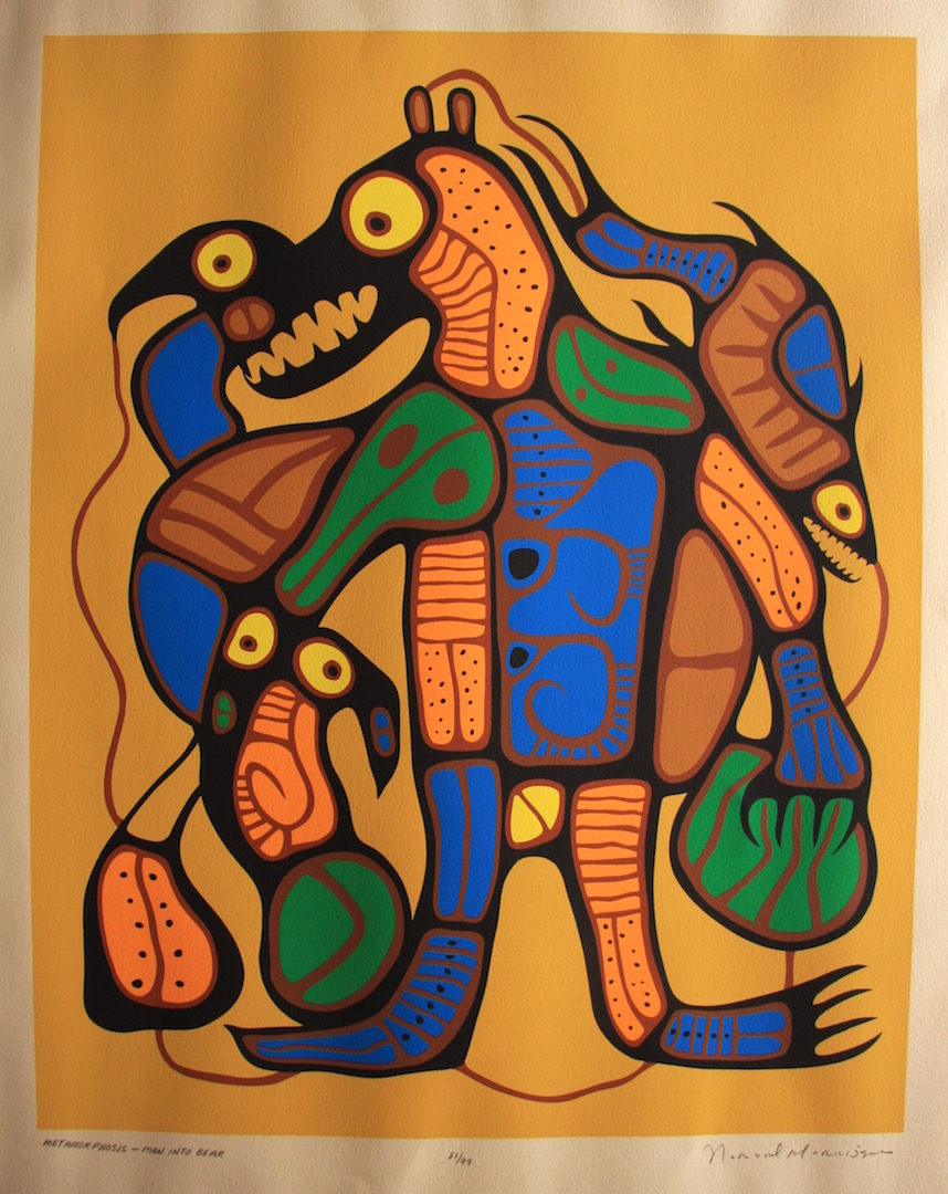 Norval Morrisseau Norval Man Into Bear