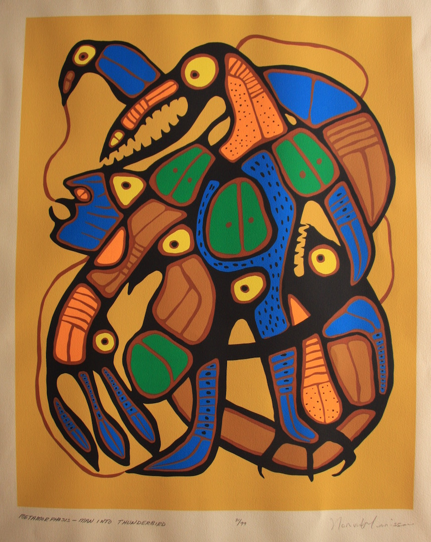 Norval Morrisseau Metamorphisis Man Into Thunderbird