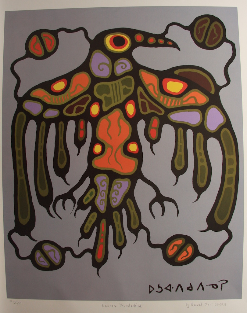 Norval Morrisseau Sacred Thunderbird
