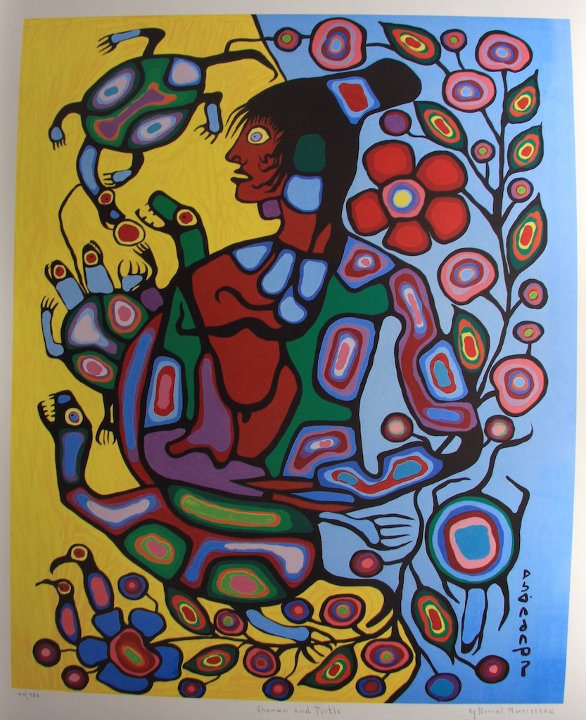 Norval Morrisseau Shaman and Turtle