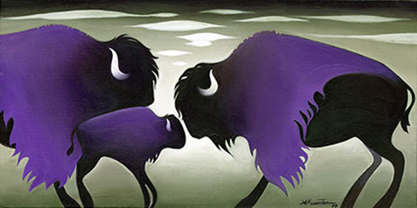 Nathalie Parenteau Purple Cloud Bisons
