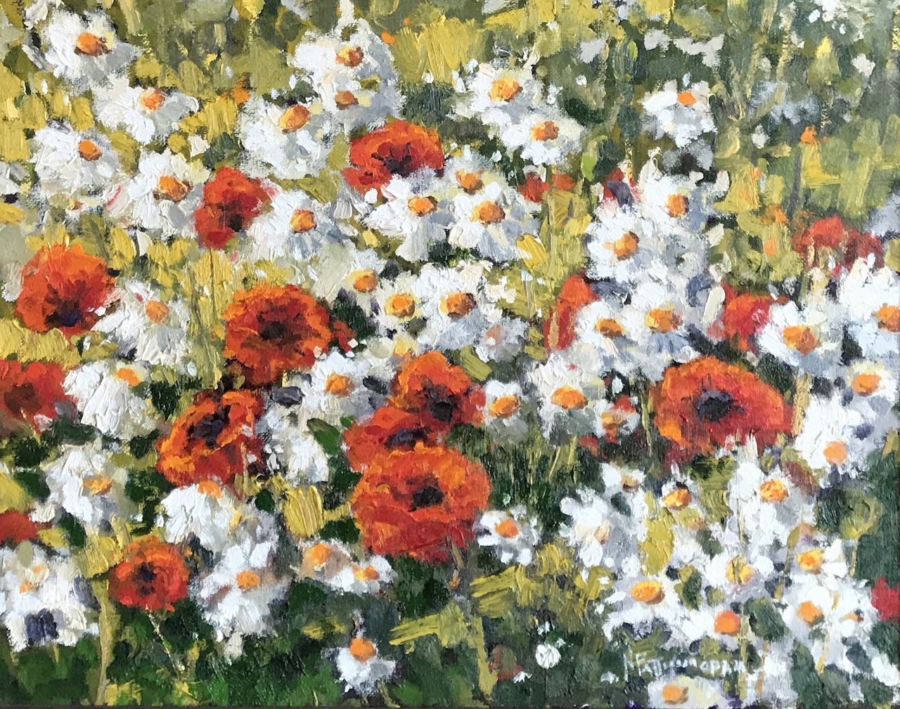 Neil Patterson Daisies and Poppies 2