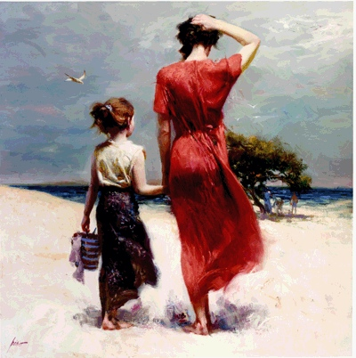 Pino Daeni Afternoon Stroll