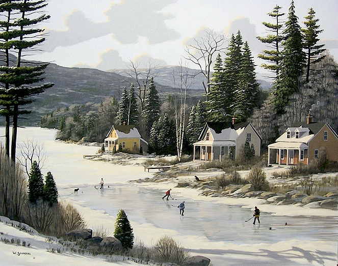 Bill Saunders Winter At The Cottage