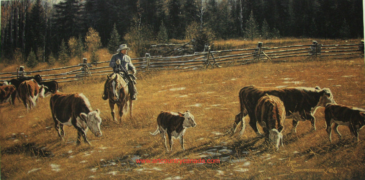 John Scnurrenberger Sorting Out The Neighbor's Cattle