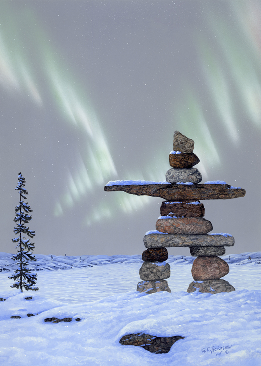 Glen Scrimshaw Guiding Lights Inukshuk