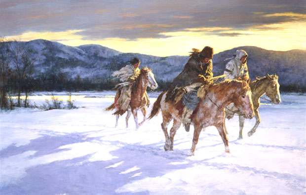 Howard Terpning Coup Sticks and War Paint