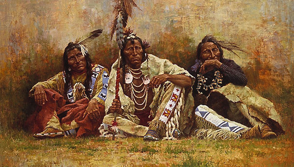 Howard Terpning Blackfeet Spectators