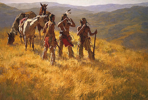 Howard Terpning Dust of Many Pony Soldiers