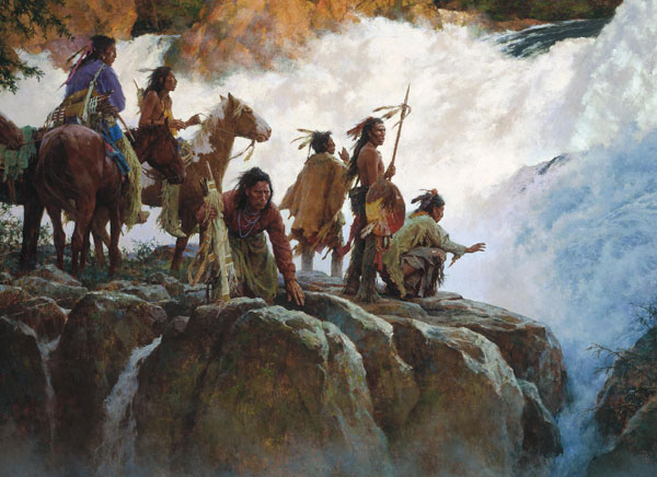 Howard Terpning - Force of Nature Humbles all Men