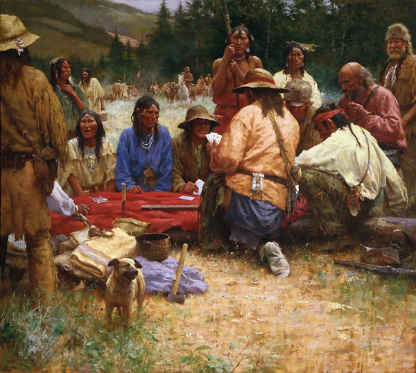 Howard Terpning A Friendly Game At Rendezvous 1832