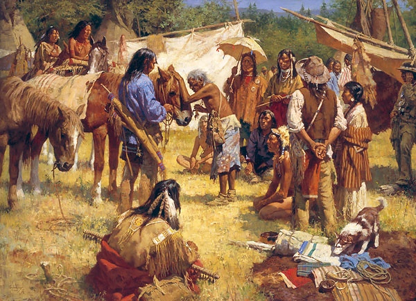 Howard Terpning The Horse Doctor and His Medicine bag at Rendezvous