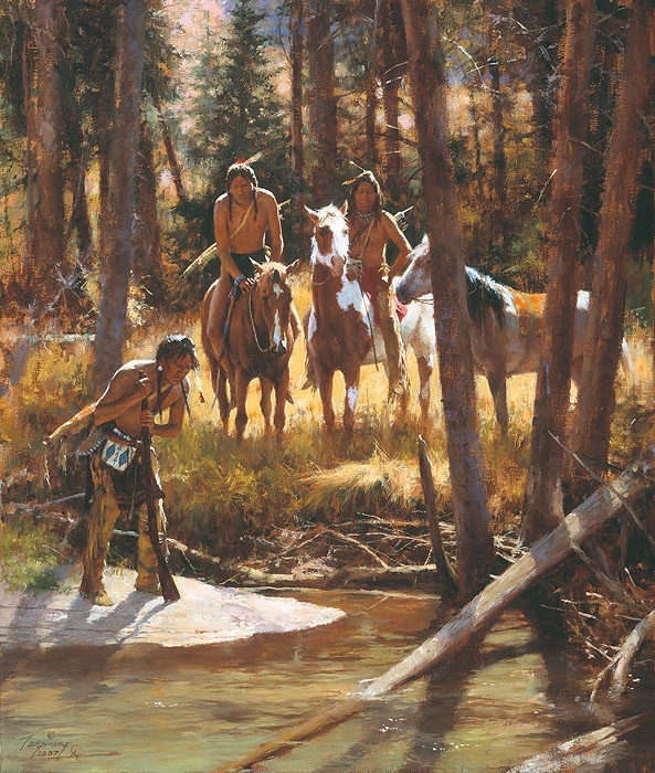 Howard Terpning Bear Tracks