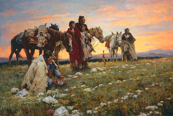 Howard Terpning Journey To The Medicine Wheel