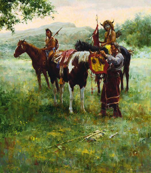 Howard Terpning Medicine Horse Mask