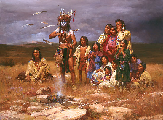 Howard Terpning - The Shaman and His Magic Feathers