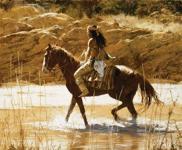 Howard Terpning The Captain's Horse