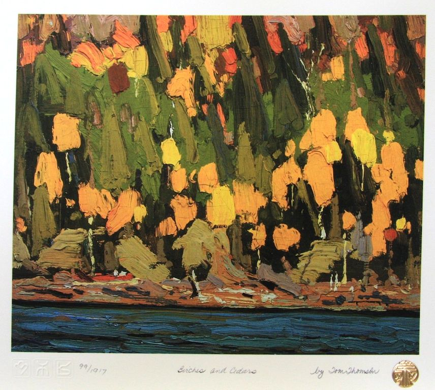 Tom Thomson Birches and Cedars