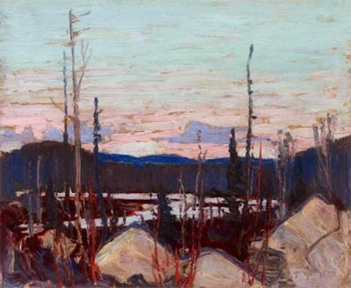 Tom Thomson Burnt Area With Ragged Rocks