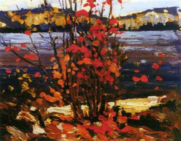 Tom Thomson Lake and Red Tree