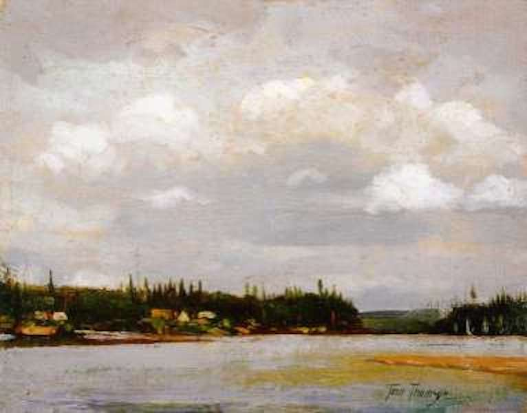 Tom Thomson Shore With Houses