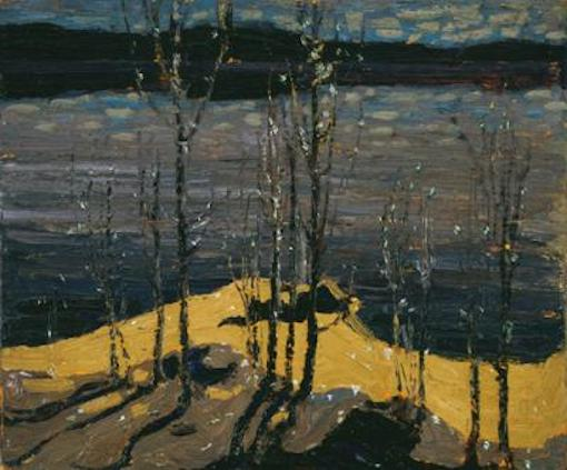 Tom Thomson Moomlight And Birches Spring 1915