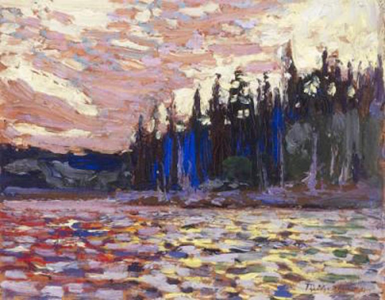 Tom Thomson Sunset By The Lake