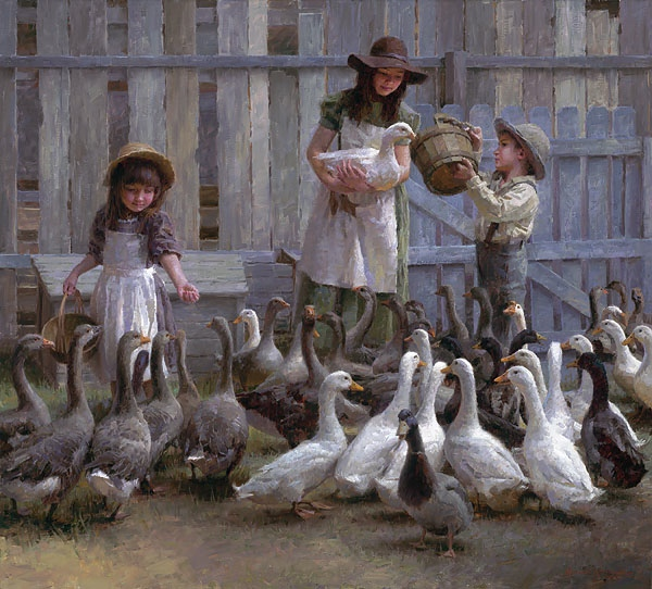 Morgan Weistling Feeding The Geese