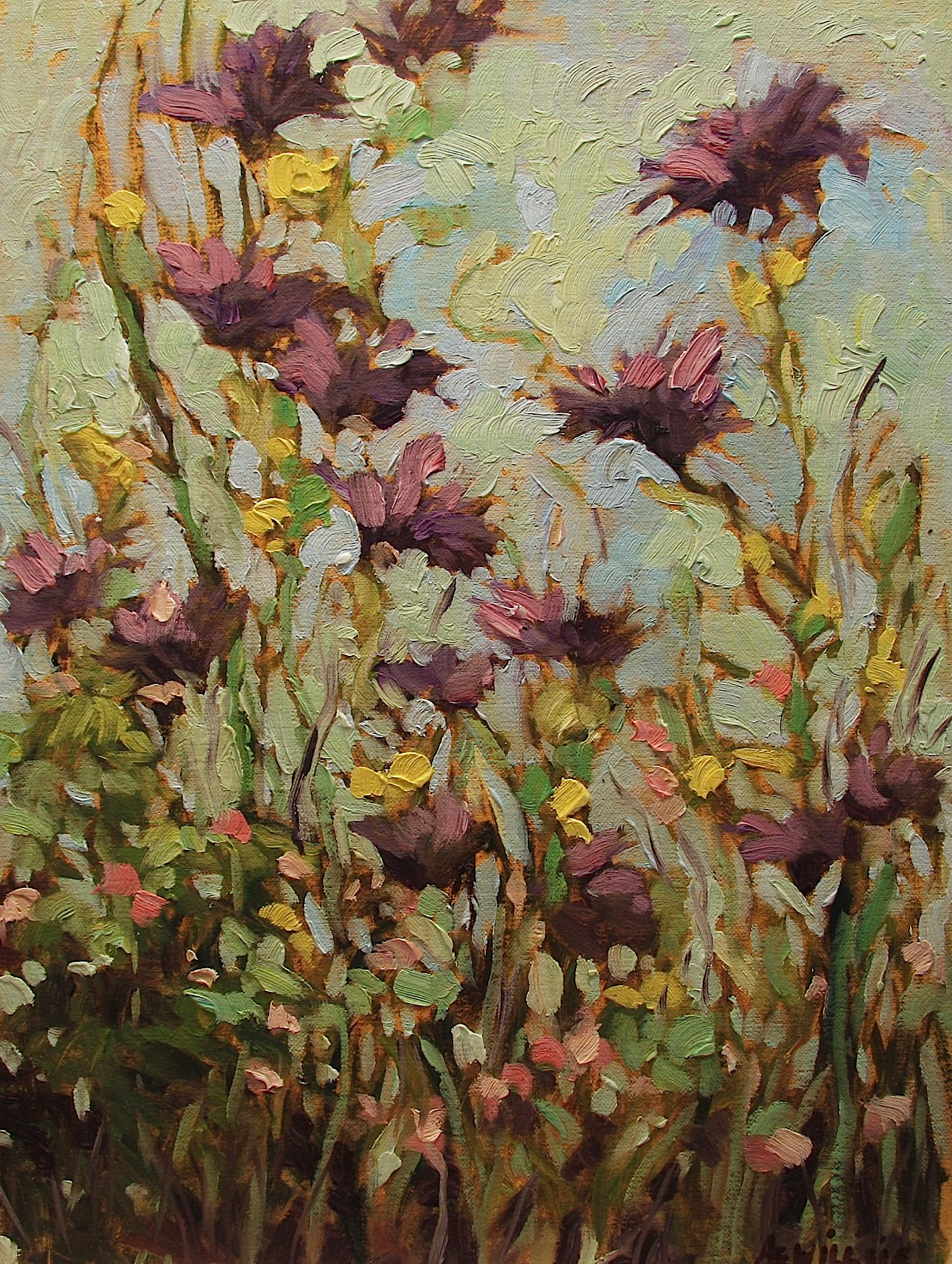 Ann Willsie Purple Wildflowers