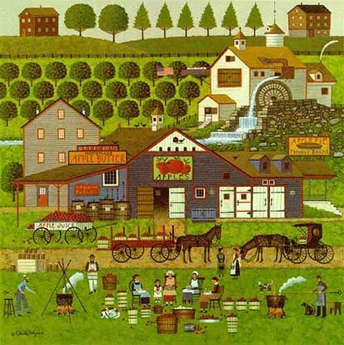 Charles Wysocki Apple Butter Makers